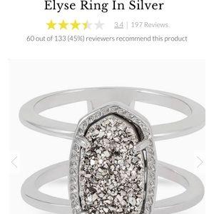 Elyse silver Kendra Scott ring.